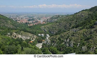 vue, montagne, bulgarie