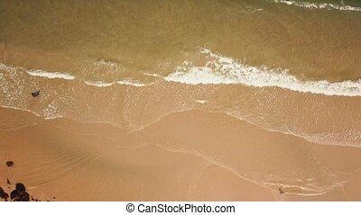 vue, mouvement, waves., aérien, video., lent, 4k, sommet, océan