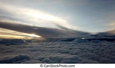 vue, nuage, mexique, -, avion, voler, méridional, couverture...