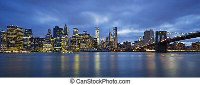 vue panoramique, de, new york