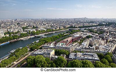 vue panoramique, francais, capital