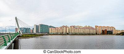 vue, panoramique, pont