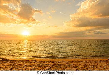 vue, plage, paysage, point, surin, phuket