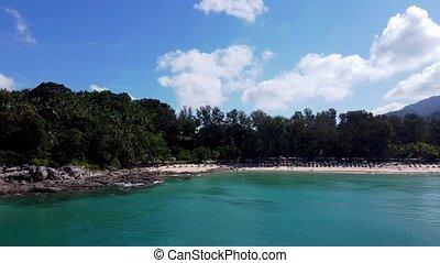 vue, plage, phuket, surin, thaïlande, aérien