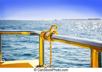 vue, plate-forme bateau