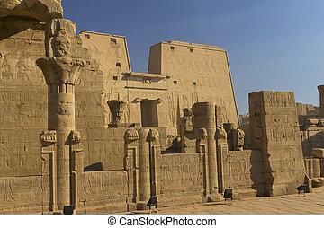 vue, temple, horus, général