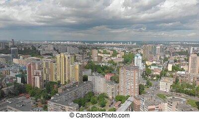 vue, ville, aérien