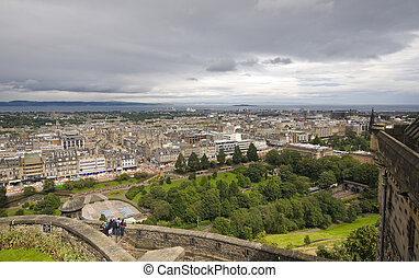 vue ville, edimbourg