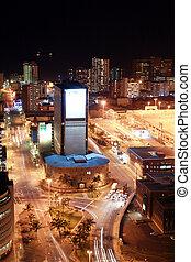 vue ville, soir