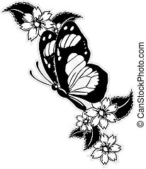 vuelo, mariposa