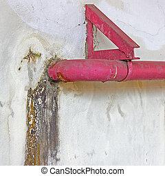 vuil, barsten, het is, beschadigen, muur, water, ernstig, bedekt, vorm