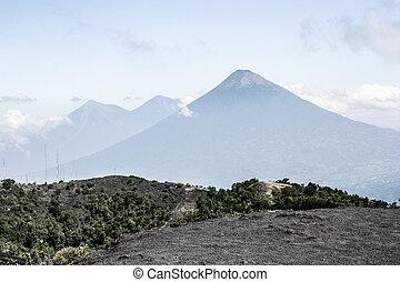 vulcão, guatemala, fuego