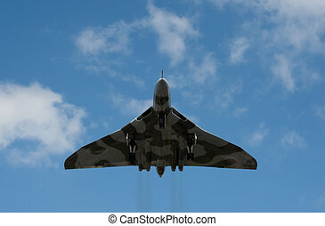 Low level pass by the last surviving Vulcan Bomber