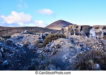 vulcanico, Canarino, tropicale, Spagna, Isole, paesaggio