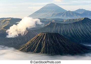 Vulcano mount Bromo located in Bromo Tengger Semeru National...