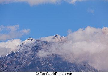 vulkán, tungurahua, felrobbanás