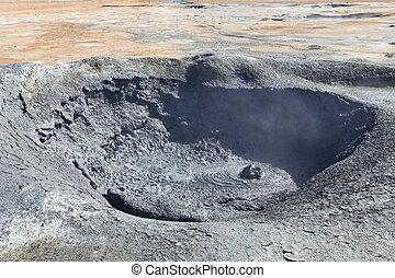 vulkanisch, namafjall, island, landschaftsbild