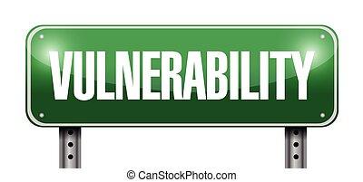 vulnerability street sign