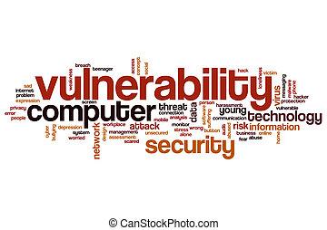 Vulnerability word cloud