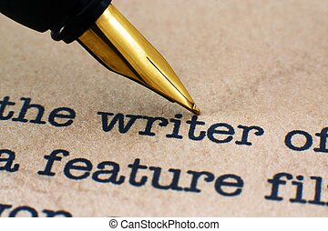 vulpen, op, schrijver