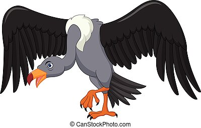 Vulture bird cartoon - Vector illustration of Vulture bird...