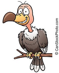 Vulture - Vector illustration of Cartoon vulture