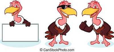 Vulture Mascot Vector happy