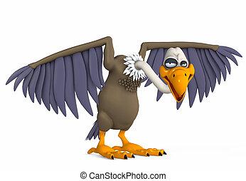 vulture - 3d render