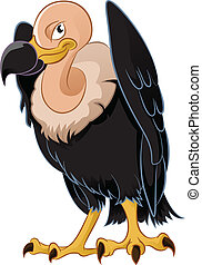 Vulture - Vector image of a cartoon smiling vulture