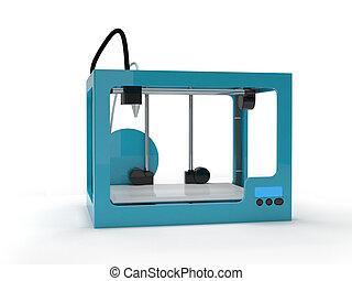 vuoto, 3d, stampante