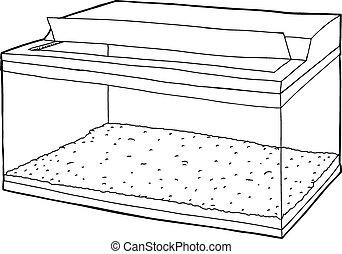 Chiaro acquario vuoto asciutto chiaro mano acquario for Acquario aperto