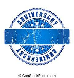 vuoto, anniversario, stamp.