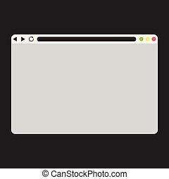 vuoto, appartamento, windows, browser