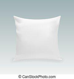 vuoto, bianco, quadrato, cuscino
