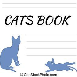 vuoto, blocco note, gatti, gatto, dischi