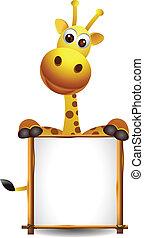 vuoto, carino, giraffa, segno