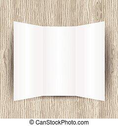 vuoto, carta, su, legno, fondo, 0902