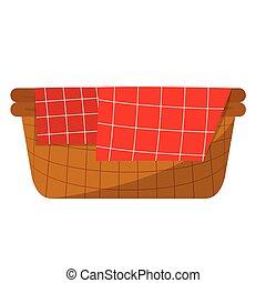 vuoto, cesto, picnic