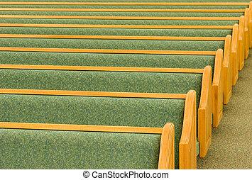 vuoto, chiesa, pews