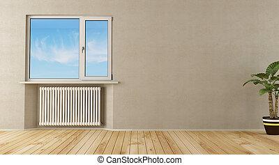 vuoto, chiuso, stanza, finestra