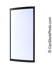 vuoto, esterno, nero, verticale, lightbox