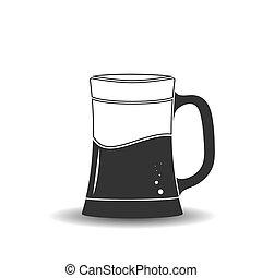 vuoto, isolato, contorno, bevanda, tazza bianca, fondo