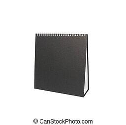 vuoto, isolato, fondo, calendario scrivania, bianco