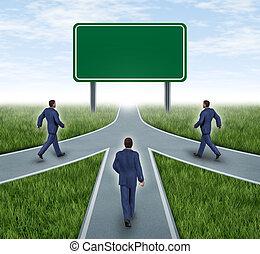 vuoto, lavoro squadra, segno strada