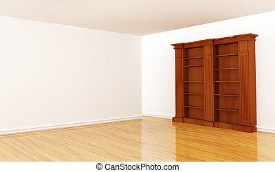 vuoto, legno, scaffale, minimalista, interno