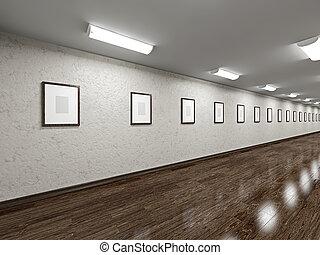 vuoto, lungo, galleria, immagini