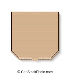 vuoto, marrone, cartone, scatola pizza