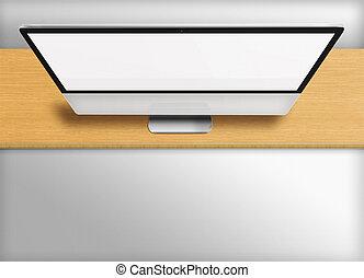 vuoto, moderno, monitor computer, screen.