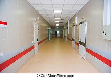 vuoto, ospedale, corridoio
