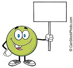 vuoto, palla tennis, presa a terra, segno